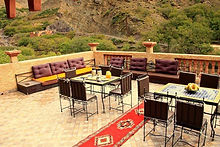 Riad Tourtit Guesthouse has the best views from the terrace down the valley to Imlil