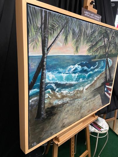 Custom Framed commissioned Seascape