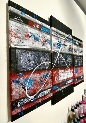 Abstract Triptych- Esperanza