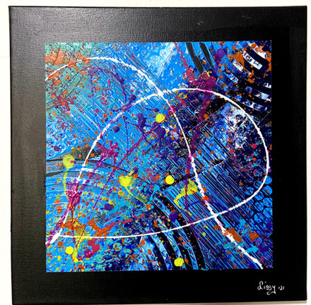 Abstract Triptych- Joy Flows