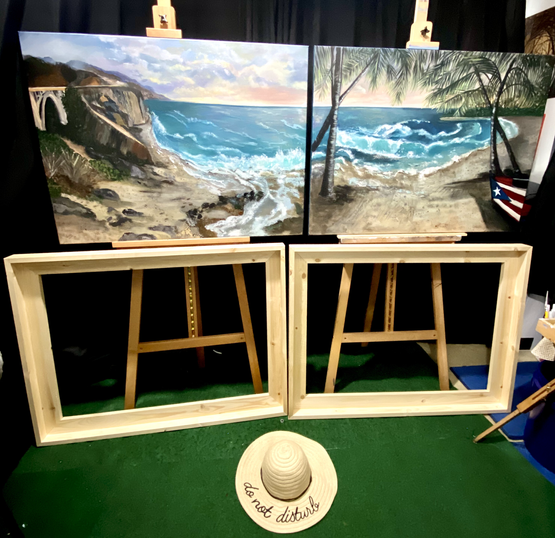 Custom Frame Commissioned Pieces