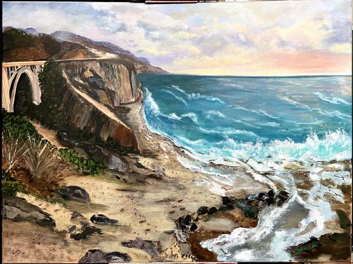 Commissioned custom framed seascape