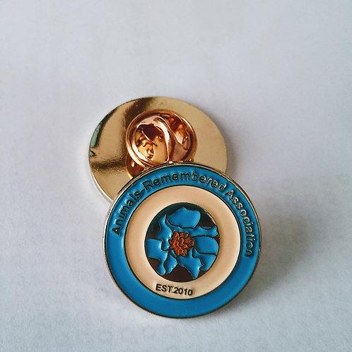 Animals-Remembered Association Himalayan Blue Poppy Lapel Pin