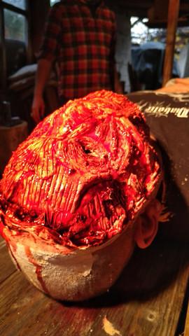 Pfahlbauer`s dead skin mask