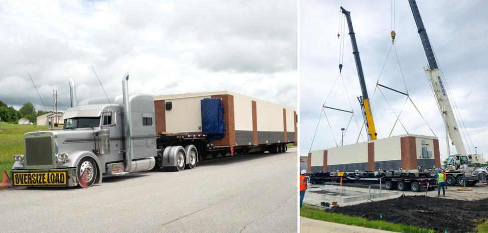 Moving Prefabricated Buildings