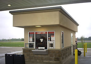 Gas station Kiosk building
