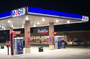 Mobil gas station canopy