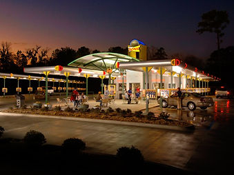 Sonic Drive-In nighttime canopy