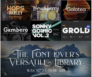 Fonts on sale at DesignCuts