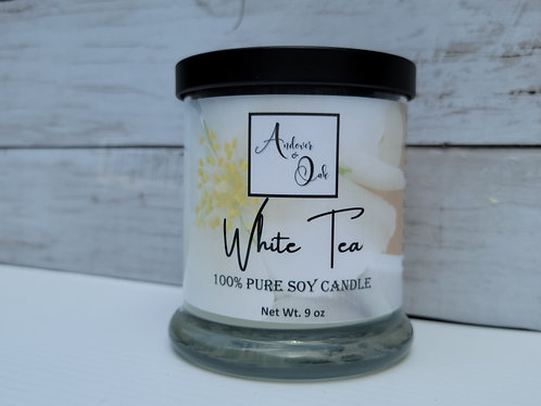 White Tea 100% Pure Soy Candle