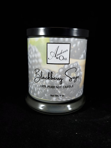 Blackberry Sage 100% Pure Soy Candle