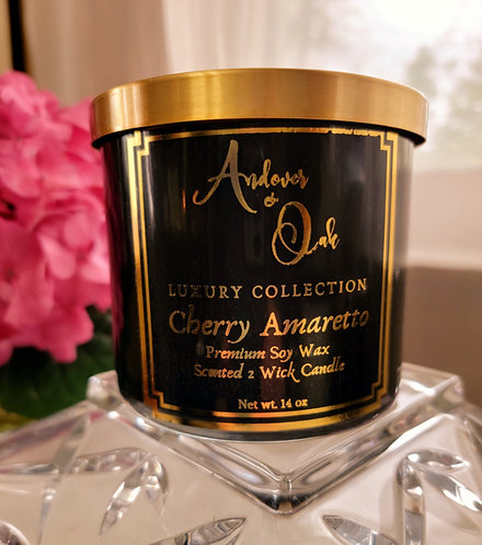 Cherry Amaretto 2 wick Soy Candle