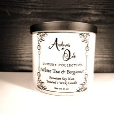 White Tea and Bergamot 2 wick Soy Candle