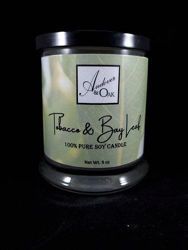 Tobacco & Bay Leaf 100% Pure Soy Candle