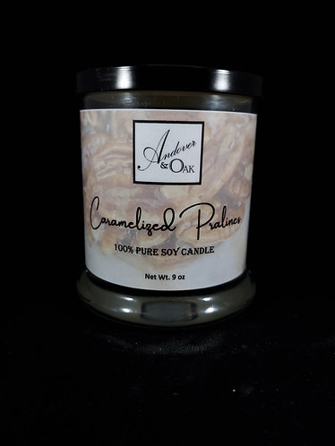 Caramelized Pralines 100% Pure Soy Candle