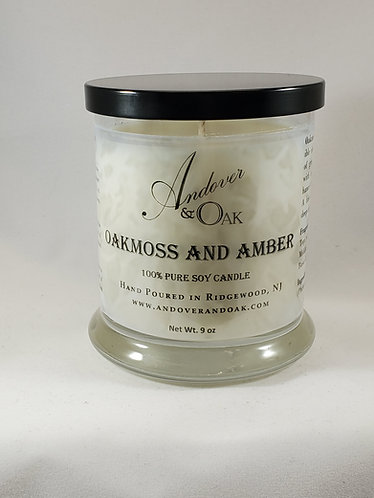 Oakmoss and Amber 100% Pure Soy Candle