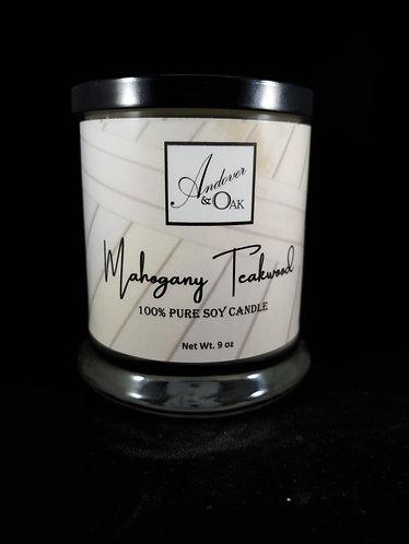 Mahogany Teakwood 100% Pure Soy Candle