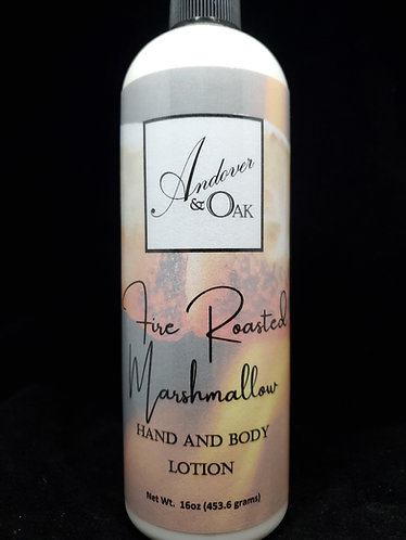 Fire Roasted Marshmallow 16 oz Hand and Body Lotion