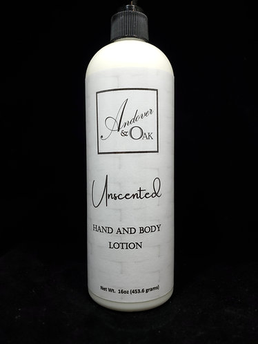 Unscented 16oz Hand and Body Lotion