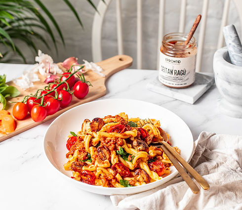 vegan Meat alternative pasta condiment