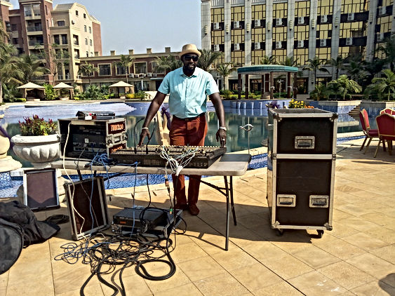 Mr Hamed Keita PDG du Label Tin kisso Record Guinée Conakry à Plaza Diamond