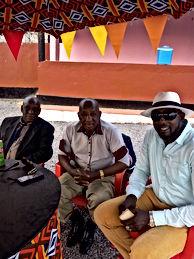 PDG Hamed Keita ,Sekou Bembeya ;Doyen Lamine Horoya Band à la STAR ACADEMIE du Label TINKISSO RECORD à Conakry Lambagny Guinée