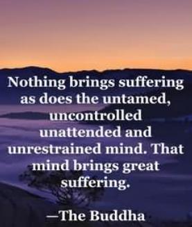 Suffering according to Buddha