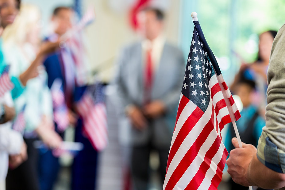 Image of the American Flag for JP Law Group, Family and Immigration Attorneys, Coral Gables, Miami-Dade County, FL.