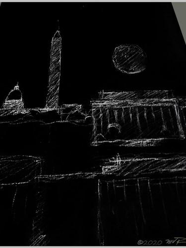 D.C. PXIM MOON White Chalk Sketch