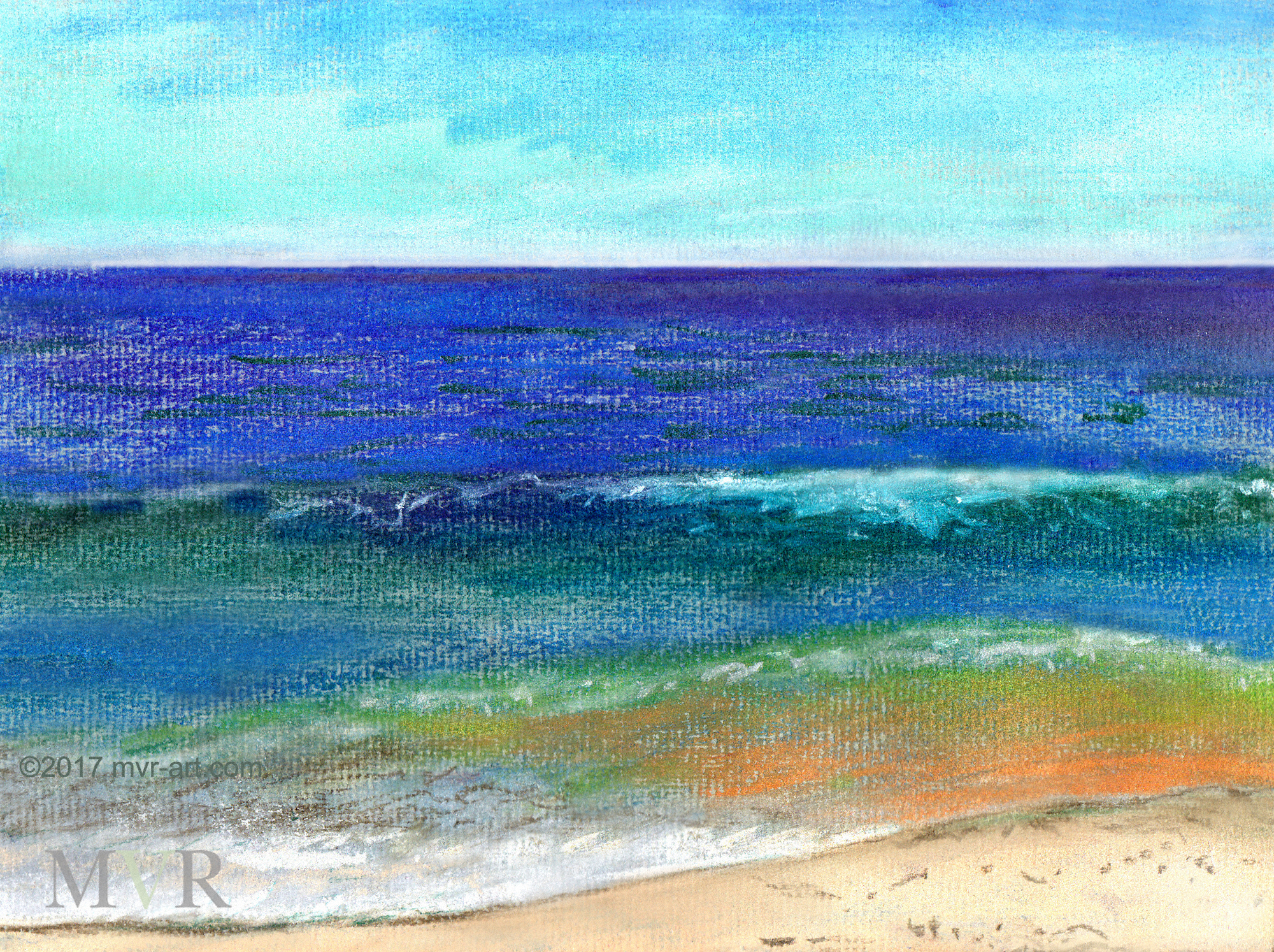 Sandy Atlantic Ocean ConTEMPOrary  Impressionist Landscape NY