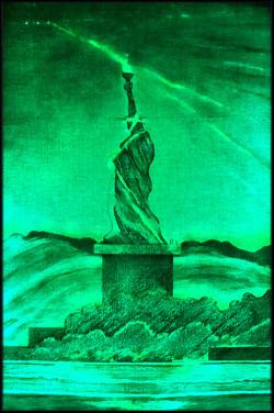 5 Green LED Liberty. Spectrum Blues SheroesNY
