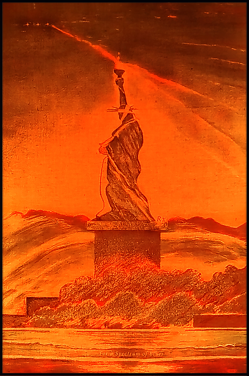 3 Orange  LED Liberty. Spectrum Blues SheroesNY