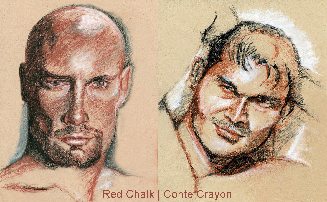 Red Chalk.Conte Crayon AllUSHeroes