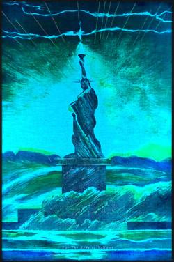 7 Cyan LED Liberty. Red Y Sheroes NY