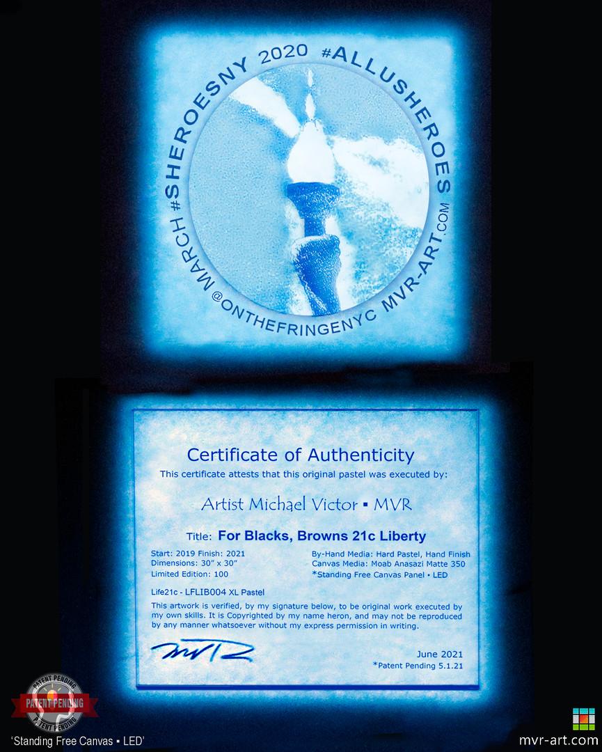 SF Canvas Cert. of Authenticity & Exhibition Emblem