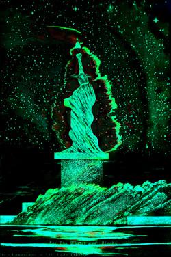 6 Green Cyan  LED Liberty. Blacks Whites SheroesNY