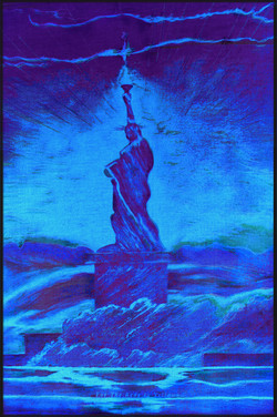8 Blue  LED Liberty. Red Y Sheroes NY