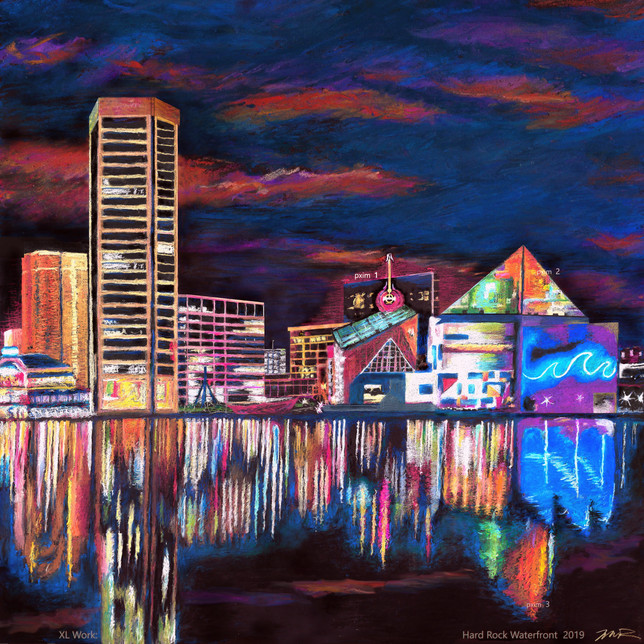 ConTEMPOrary Impressionist Landscape     A 'HARD ROCK' WATERFRONT 2020-21