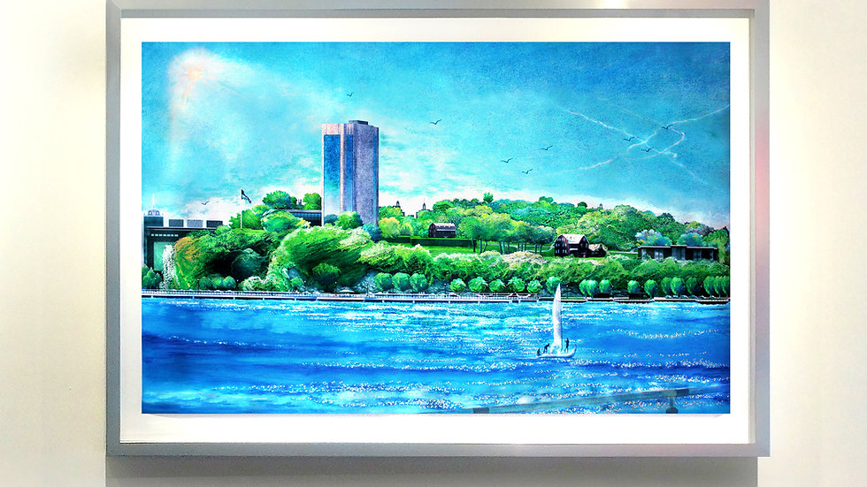 IT Riverfront Bluff Campus Lscp |SpotLit Art Collection