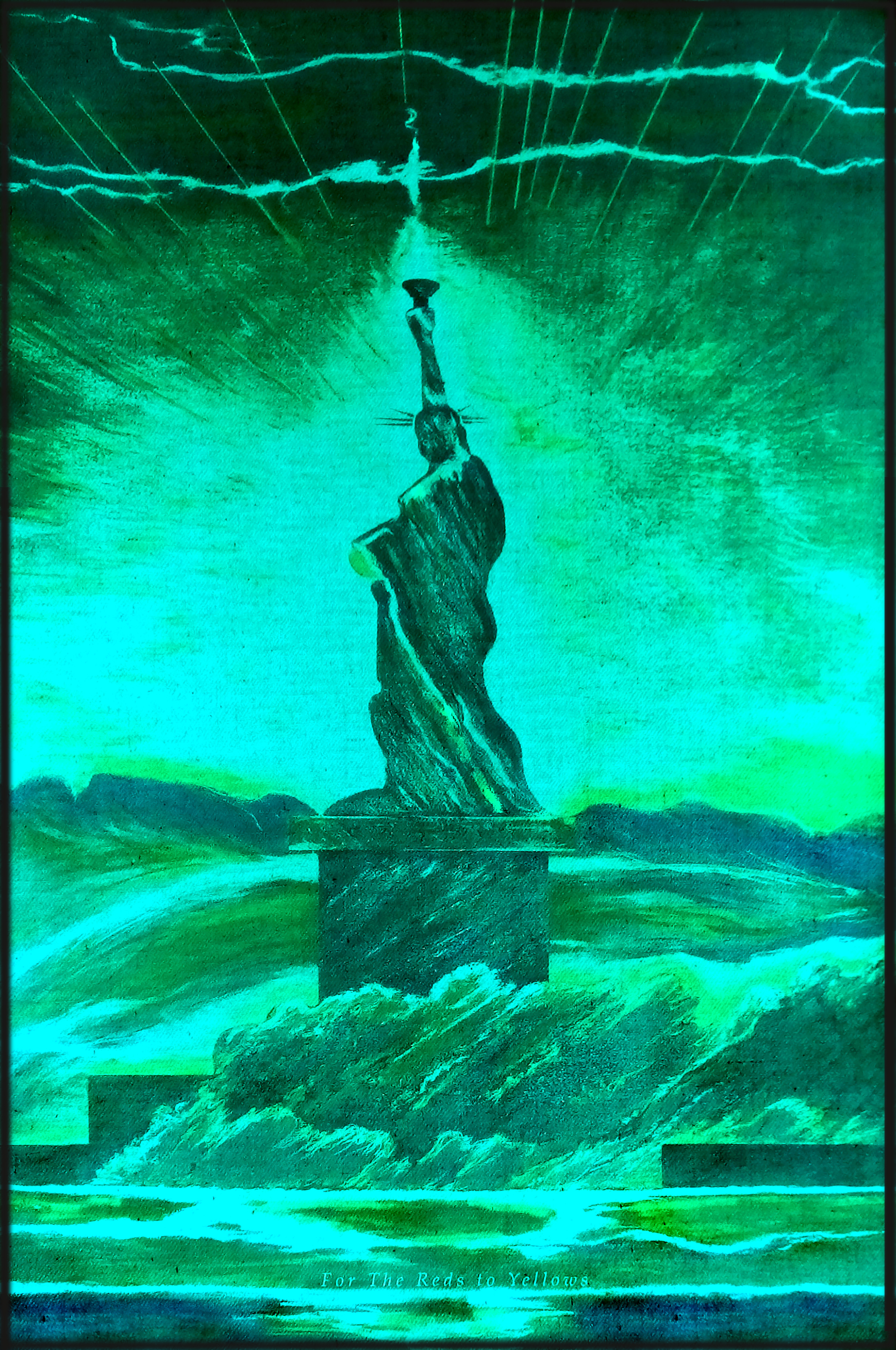 6 Green Cyan  LED Liberty. Red Y SheroesNY | Contempo 2020 NYC Innova