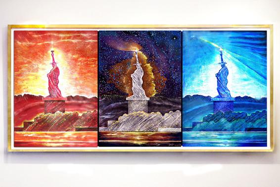Landscape 21c Liberties Triptych