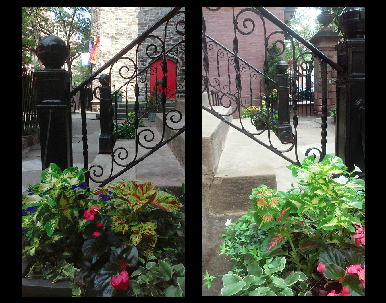 NYC Church Entry Court Planters