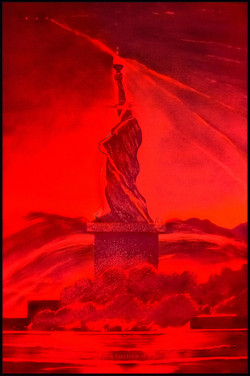 2 Red LED Liberty. Spectrum Blues SheroesNY