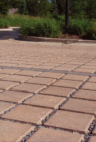 Porous Pavers - Reduces runoff pollution