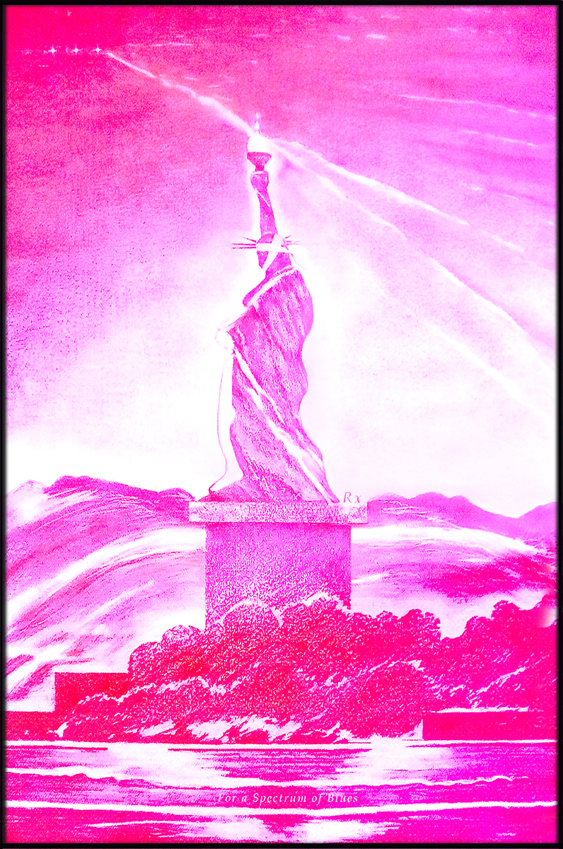 10 Magenta LED Liberty. Spectrum Blues SheroesNY