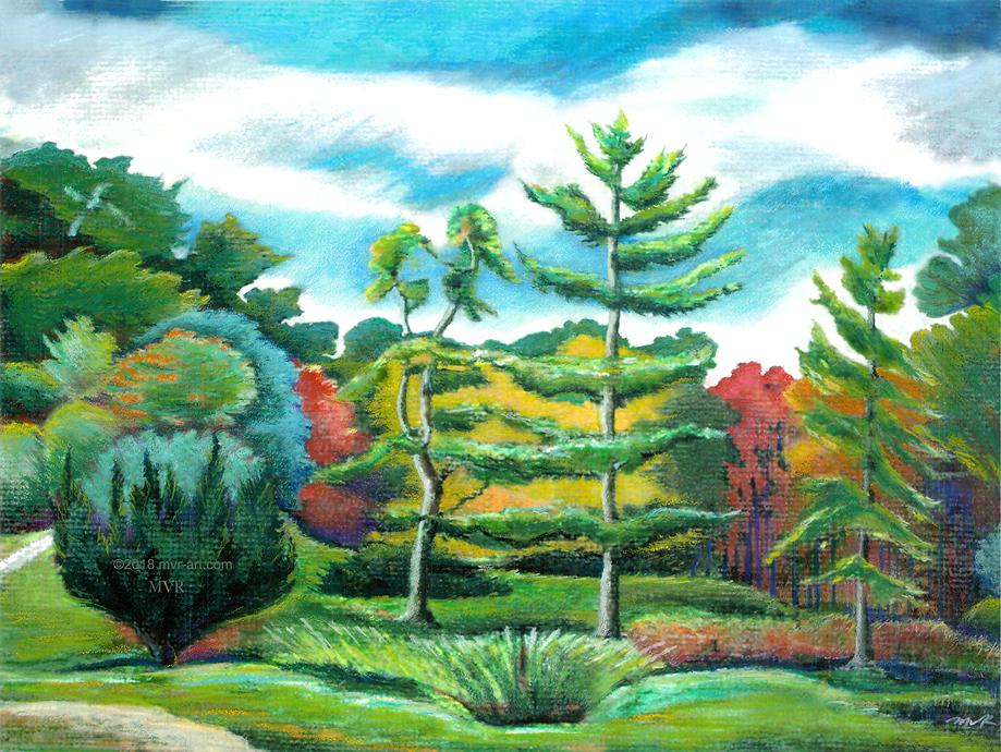 Tupelo Pines Tree Landscape Garden_Hudson Val