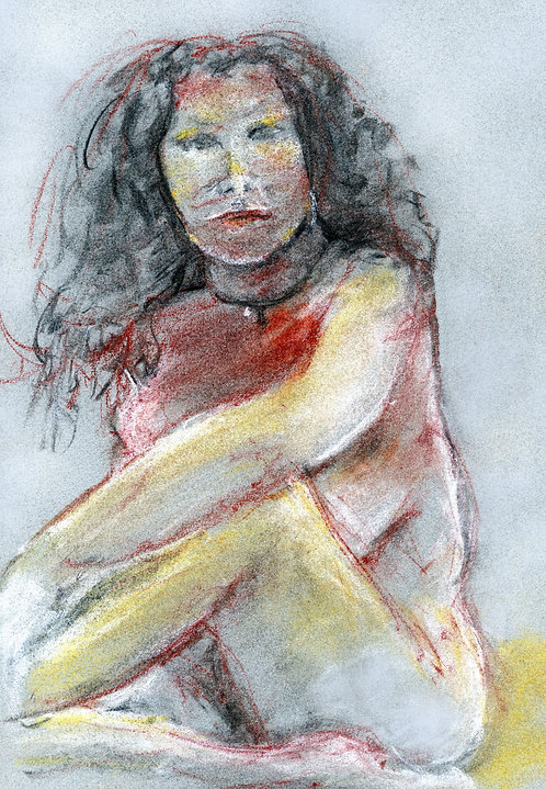 RED CHALK| 4+ TONES FIGURES Woman