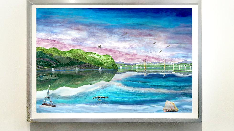 SpotLit* NY H River Flyway @Tappan Zee M Cuomo Bridge