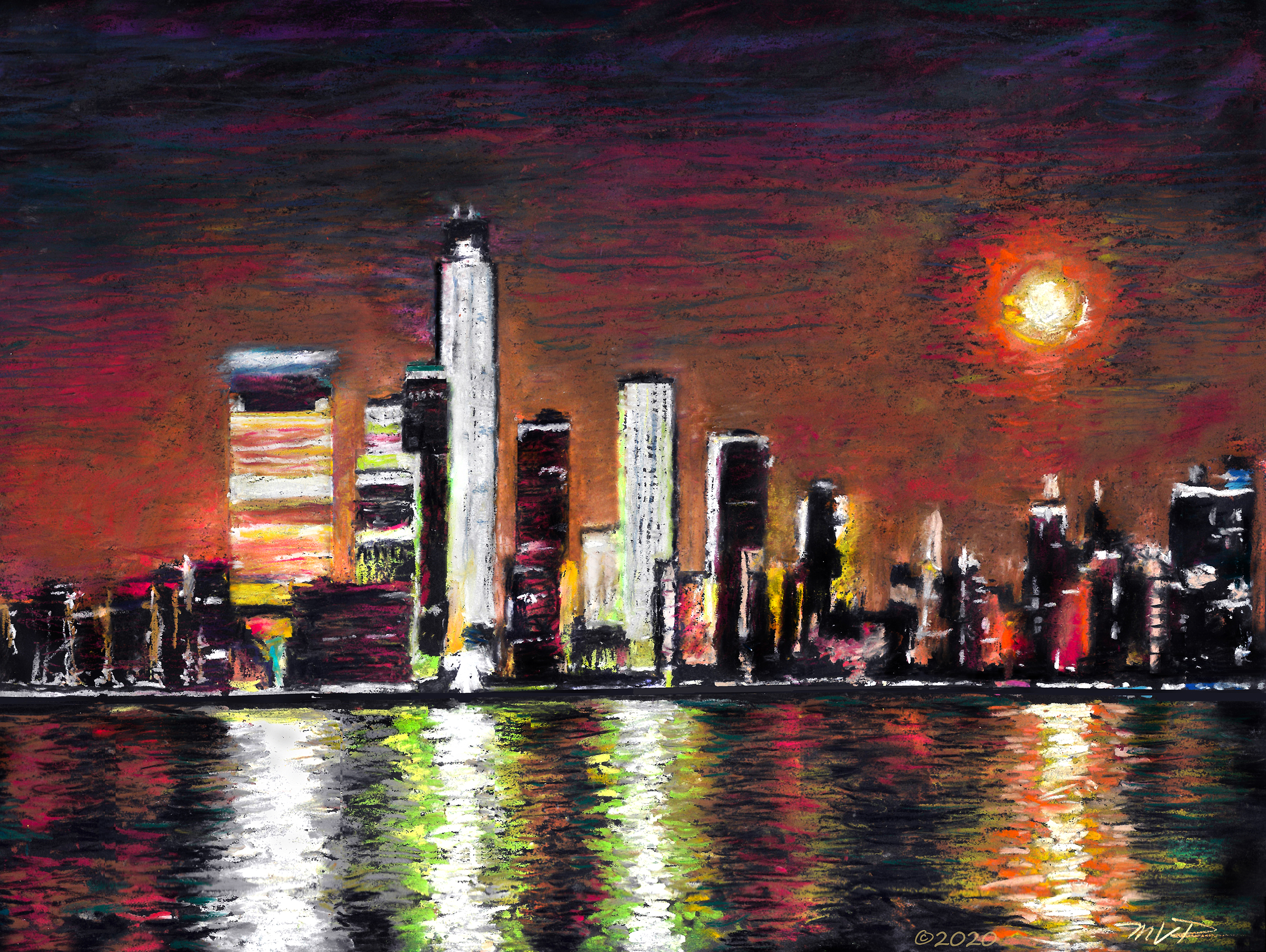 ConTEMPOrary Impressionist NY| Pxim City Moon II