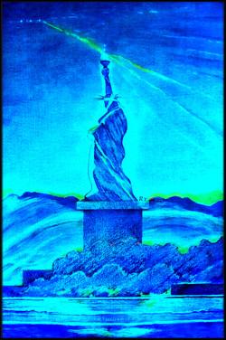 8 Blue  LED Liberty. Spectrum Blues SheroesNY